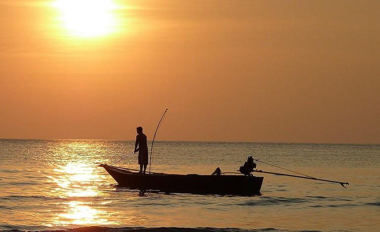 fishing-at-sunset